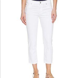 NEW Hudson Crop Fallon Straight White Denim Jeans